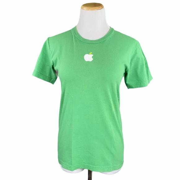 Apple American Apparel Green Short Sleeve Tee